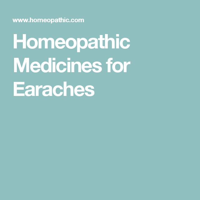 Homeopathic Medicines for Earaches