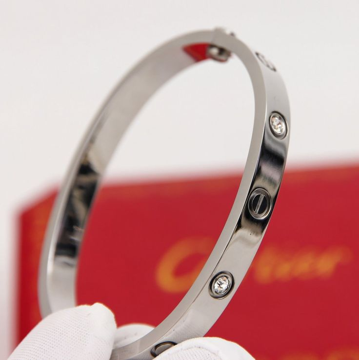 Браслет Cartier картье Love g750 100 20 N04911 серебристый