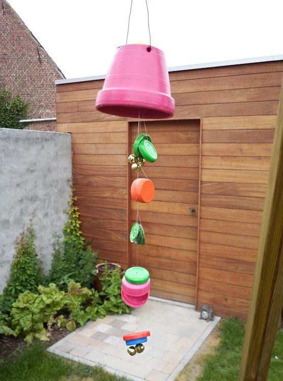 knutselen kleuter - wind chime - DIY