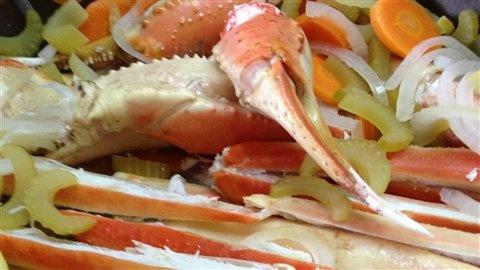 Pattes de crabes réchauffées au court-bouillon avec Daniel Vézina