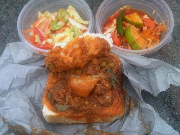 South African Durban Bunny Chow-Lamb Curry