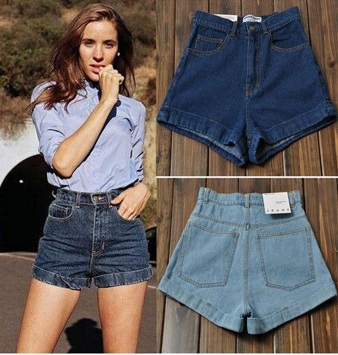 New 2017 Spring Summer Fashion Vintage High Waist Denim Shorts //Price: $39.16 & FREE Shipping //     #hashtag4
