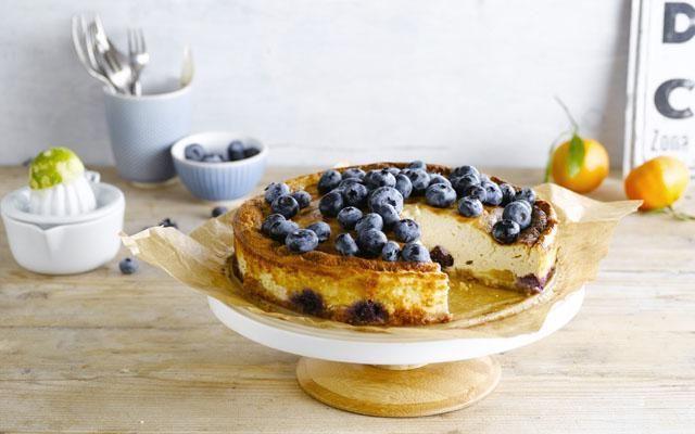 zachte blueberry cheesecake