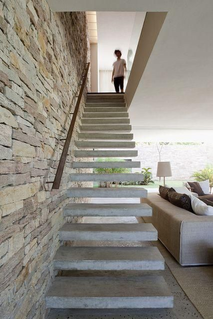 Paredes Com Pedras Staircases Interiors And Staircase