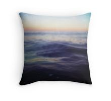 Mediterranean sea off Ibiza in dusk sunset evening colors Hasselblad square medium format film analogue photo Throw Pillow