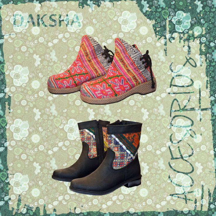 Botas. www.daksha.com.ar Boho chic. Hippie chic. India. Tailandia.
