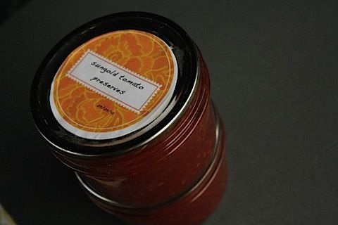 Sungold preserves... excited about the pretty golden tomatoes