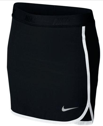 Falda de golf Nike Girls Skort Junior.. Falda Nike Golf para niñas, con cintura elástica ajustable y diseñado con la tecnología Dri-Fit, para mantenerla seca y cómoda mientras juega a golf.