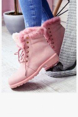 Trapery Nadia Rozowe Ocieplane Futerko 6907 Obuwie Damskie Www Stylowebuty Pl Boots Shoes Shoes Heels