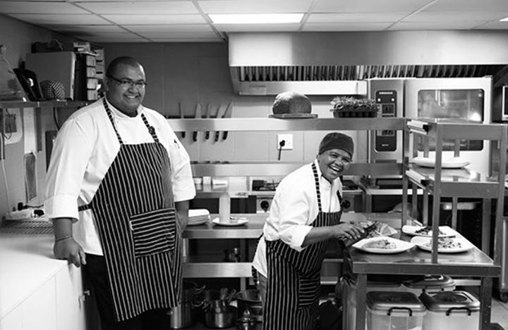 Chef Cole and Chef Lenie - two chefs from our kitchen staff responsible for all of the delicious food made here at Clouds Estate. #chefs  #Cloudsestate http://cloudsestate.com/home-8.html