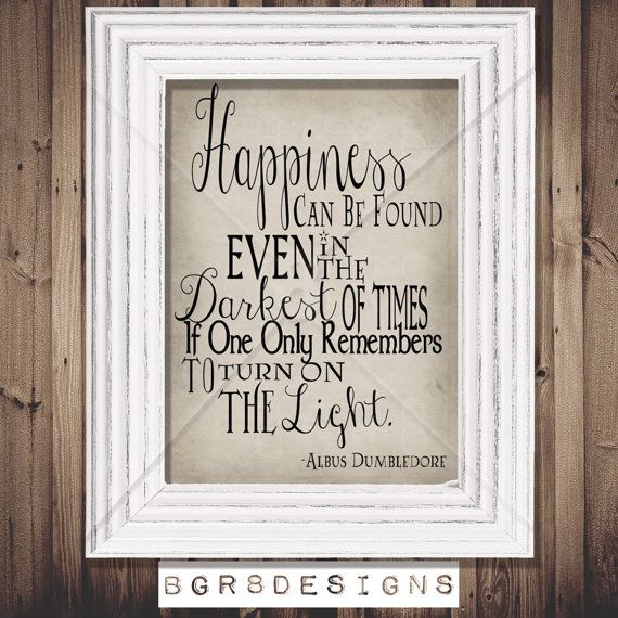 Happiness can be found... Dumbledore Harry by TotallyInvited, $4.00