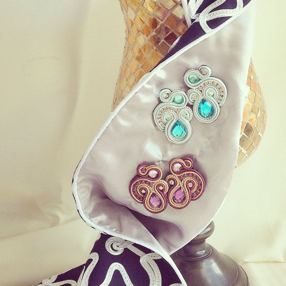 Original Soutache Earrings Swirl Design by LittleVeniceDesign
