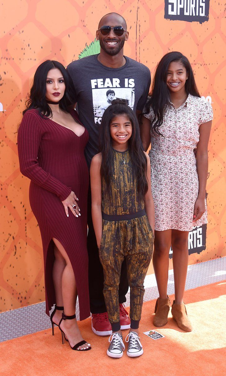 cheap for discount ad5c7 a6e95 ... Kobe Bryant Attends the Kids Choice Sports Awards With His Gorgeous  Wife and Daughters ...