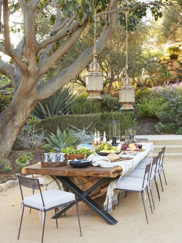 I'm looking forward to the warm spring months ahead. I'm starting to plan for an outdoor dinner party or two, and here's a little Sunday inspiration...