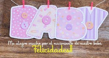 Frases para recién nacidos en lindas postales.