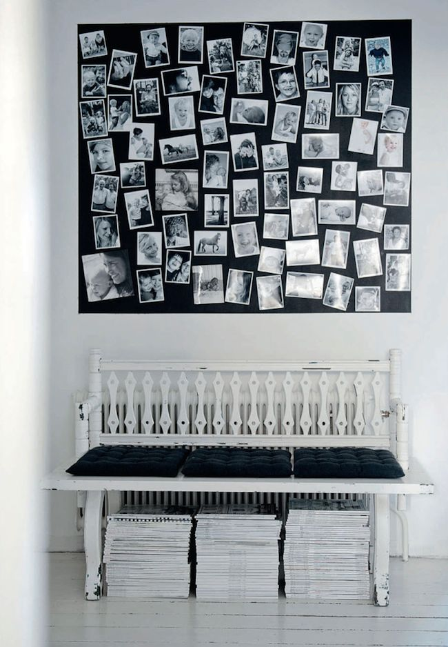chic way to display beloved photos