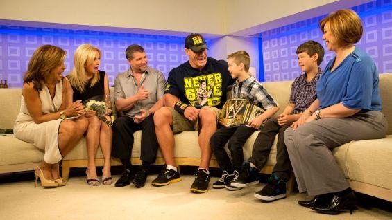 John Cena surprises Make-A-Wish's Nick on #NBC's Today Show during #WorldWishDay. #wwe