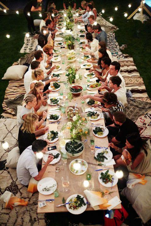 Athena Calderone hosts a summer soiree at her Amangansett home.