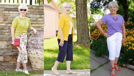 Mode für ältere Frauen: Caprihosen für die Sommermonate
