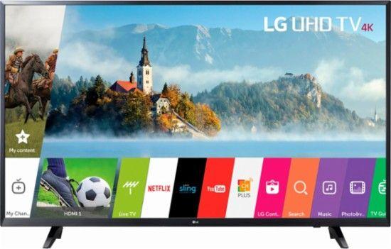 "LG - 55"" Class (54.6"" Diag.) - LED - 2160p - Smart - 4K Ultra HD TV - Front_Zoom"