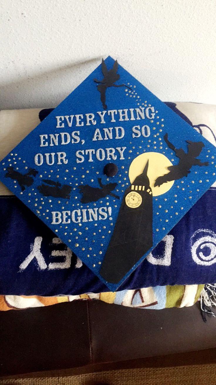 Peter Pan graduation cap #disney #disneygraduationcap #disneygradcap #crafty #diy