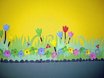 C mo decorar una guarder a cas costura and manualidades - Moldes para pintar paredes ...
