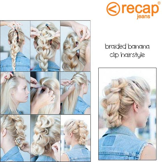 Create this easy banana clip #hairstyle within minutes.. Get the rockin' style that takes your old '80s banana clip to the next level.. Literally!