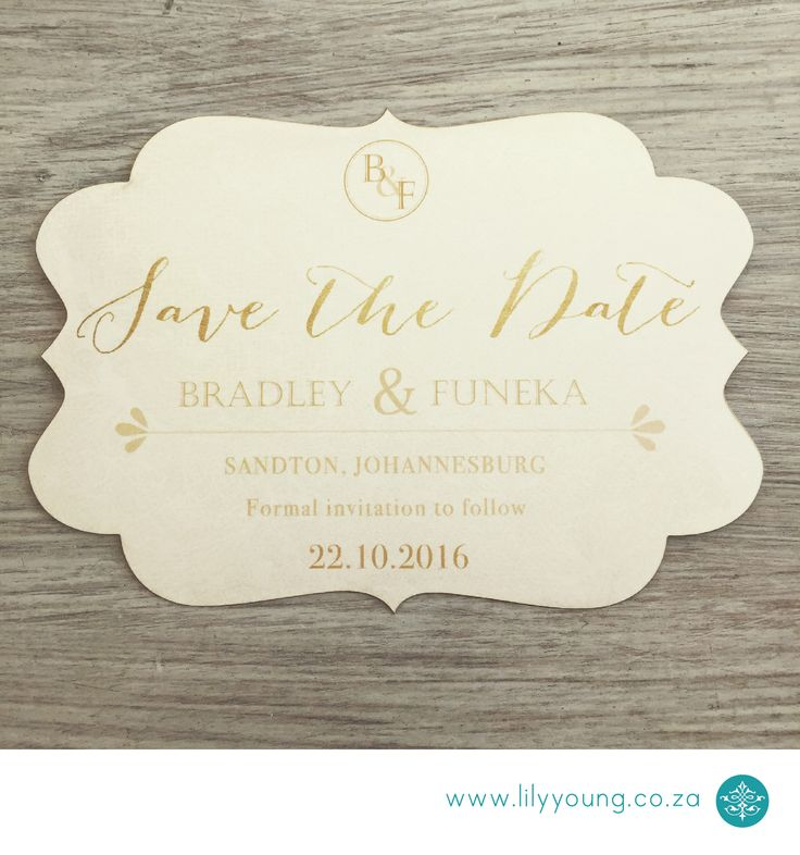 Simple yet elegant save the date magnet with laser-cutting.