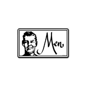 Amazoncom VintageRetro Look Restroom Signs Men and