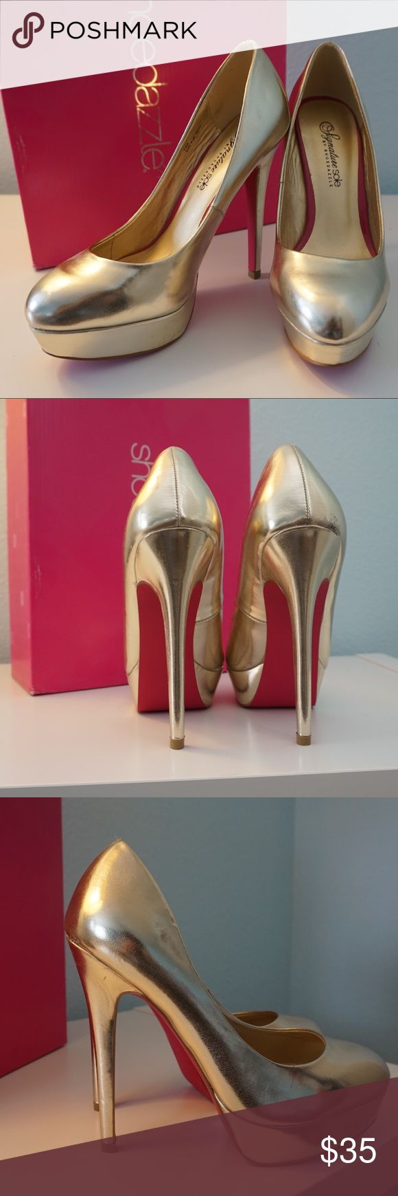 NWT ShoeDazzle Platform Heels Never worn! Brand new! They're not my size and therefore I'm selling them. In perfect condition and still has box and tags with shoes! Shoe Dazzle Shoes Heels