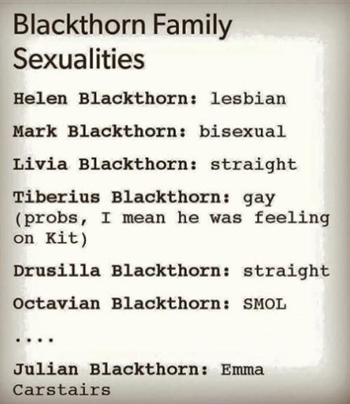 Julian Blackthorn's sexuality is... Emma Carstairs! xD
