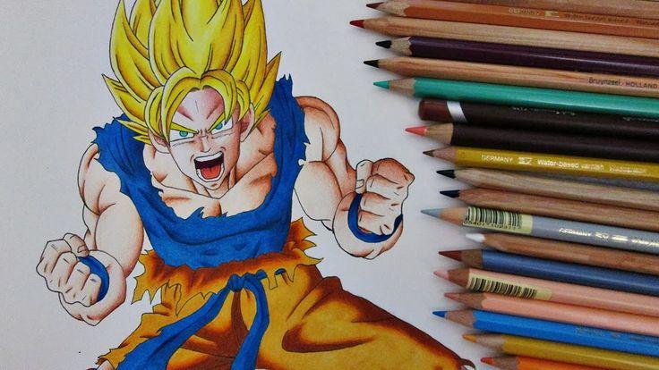 Speed Drawing SSJ Goku    Dragon Ball Z