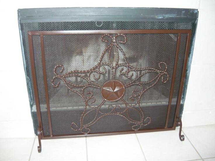 Custom Iron Fire Screen Western Rustic Elegant Home Decor Hand Made And Hand Finished Rust