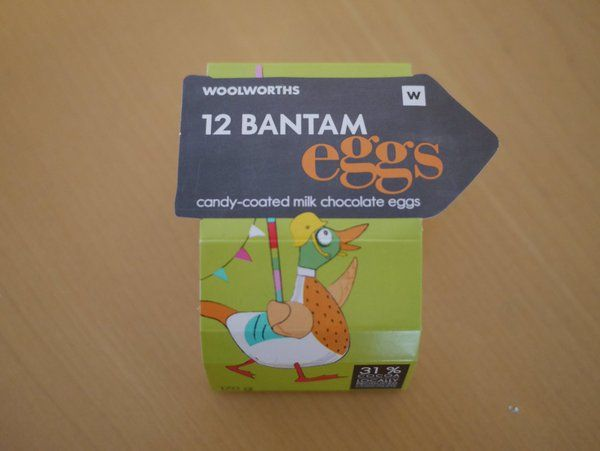 #chocolate #egg sleeve from #Woolworths #SA   @frances_quinn - not sure about that duck...  via @isetta_windsor