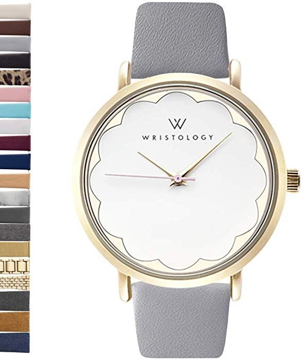 Amazon Com Wristology Olivia Women S Scallop Gold Boyfriend Watch