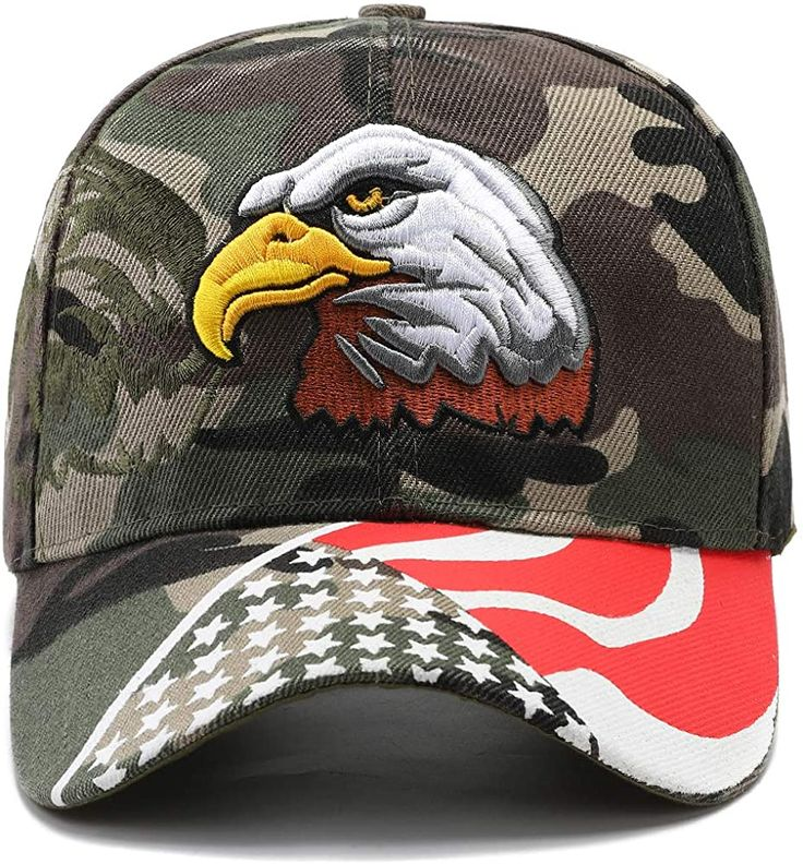 4th of July American Flag Star Unisex Baseball Curved Classic Structured Snapback Hat