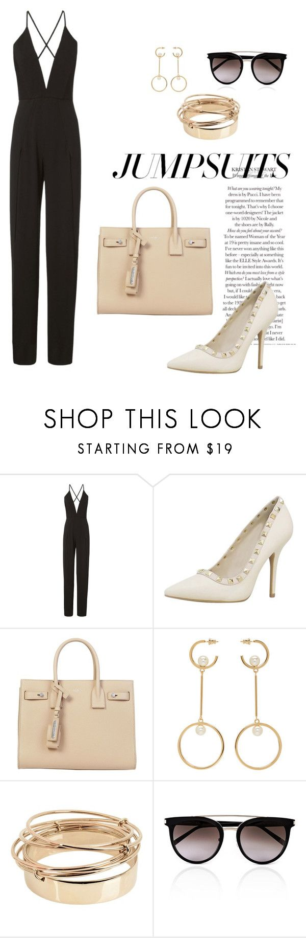 """""""Bez naslova #32"""" by tokicamna ❤ liked on Polyvore featuring Michelle Mason, Yves Saint Laurent, Chloé, Valentino, Calvin Klein and jumpsuits"""
