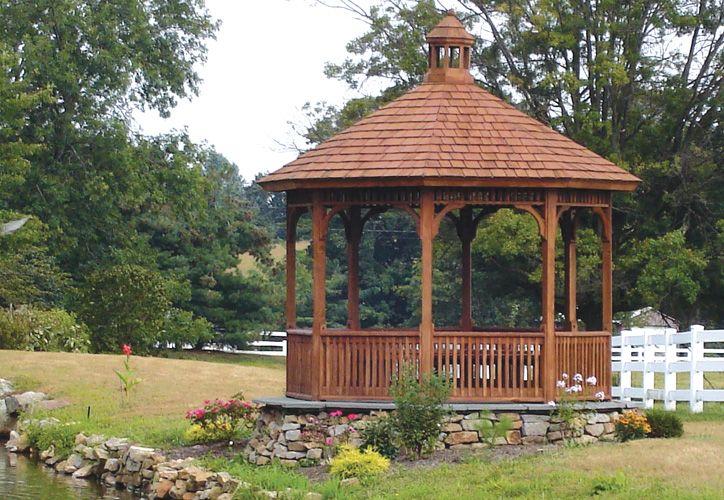 Cedar Gazebo | backyard | Pinterest | Wooden garden gazebo, Pergolas and Backyard
