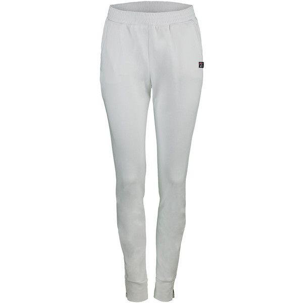 These FILA Women's Marion Bartoli Trophee Pants are a great addition to any tennis wardrobe. Wear to warm up then off to the club for lunch with friends! They feature front pockets, a multi needle elastic waistband for a comfortable fit. Easy on and off with the zippered cuffs at the bottom of the legs. Throw on the coordinating blazer and you can go anywhere! Hello Wimbledon!