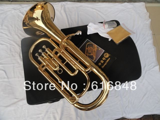 330.00$  Watch here - http://alifyr.worldwells.pw/go.php?t=983428046 - Wholesale - 3 straight key Bb bass,tenor French Horn is golden