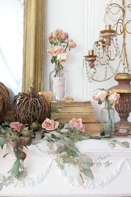 Simple Autumn with French Cottage Style in the Living Room -  The other day, I felt the thrift stores calling me.   Have you ever had that happen?   When you hav...