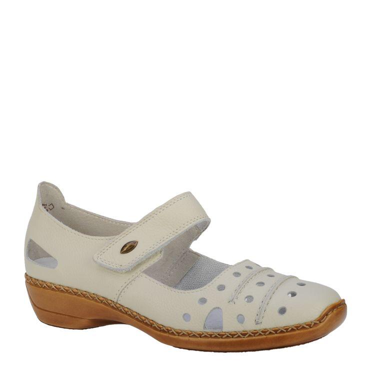 Pantofi casual dama Rieker crem