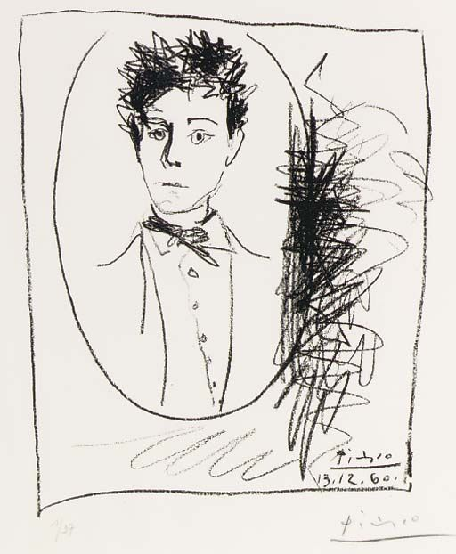 Portrait of Arthur Rimbaud by Pablo Picasso