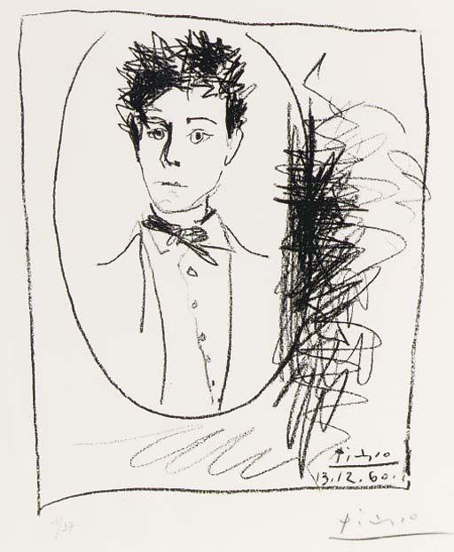 Portrait of Arthur Rimbaud by Pablo Picasso