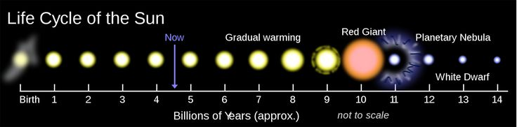 The Sun is roughly middle-aged; it has not changed for 4 billion years and will remain stable for more than another 5 billion years. It will eventually become a red giant.The Sun will become large enough to engulf the current orbits of Mercury Venus and Earth.