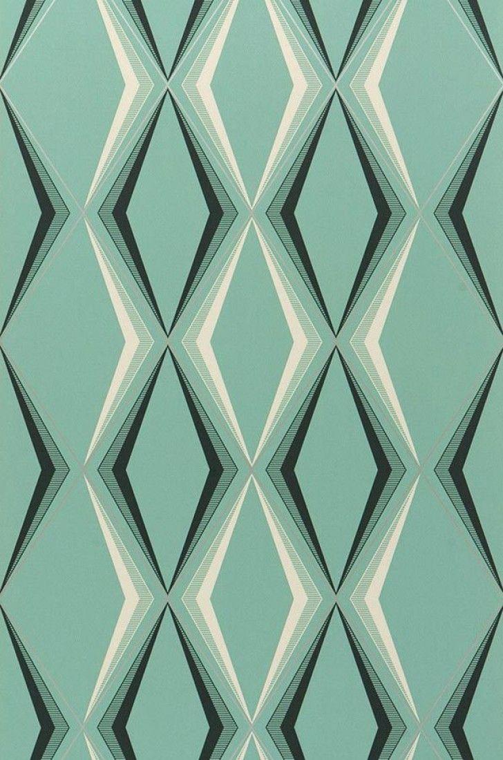 Juno | Papier peint vert | Autres papiers peints | Papier peint des années 70
