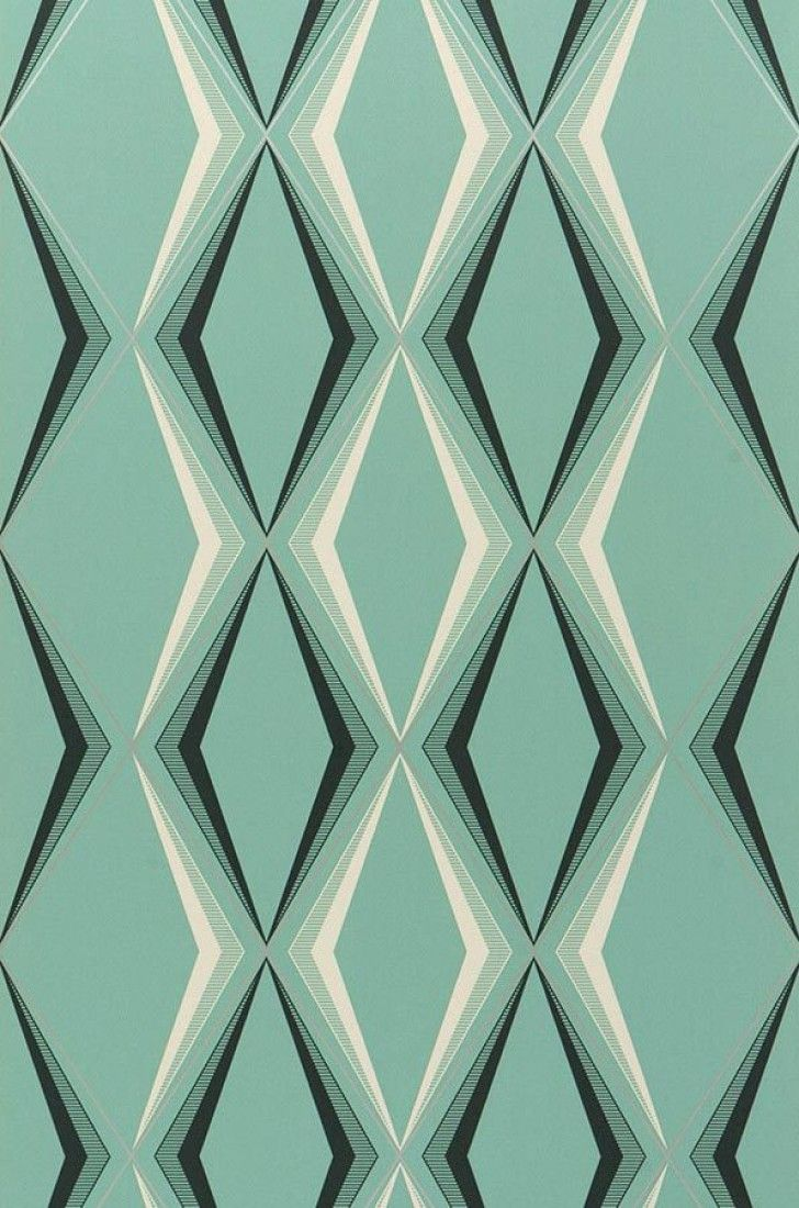 Juno | Papel de parede geométrico | Padrões de papel de parede | Papel de parede dos anos 70
