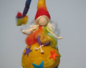 Needle felted waldorf inspired mobile the by Made4uByMagic
