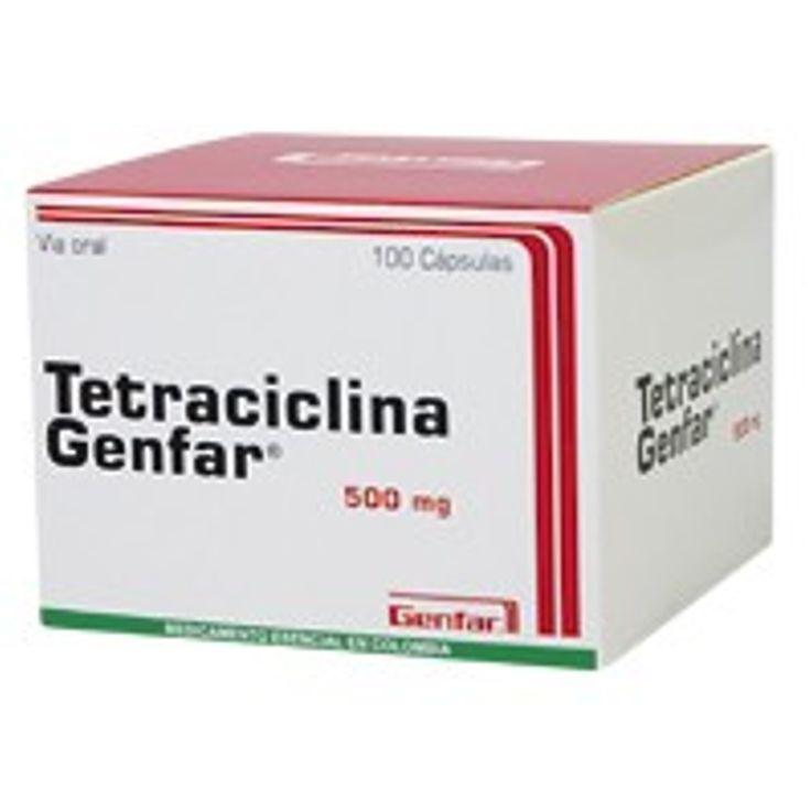 -Nom comercial: tetraciclina -Principi actiu: tetraciclina hidroclorur (antiinfecciós d'ús sistèmic).  -Indicacions: Infección ORL, dental, respiratoria, gastrointestinal, genitourinaria, de piel y tejido blando, uretritis no gonocócica, brucelosis (con estreptomicina), tifus exantemático, psitacosis. -Tipus: BACTERIOESTÀTIC.  (Víctor Hernàndez).