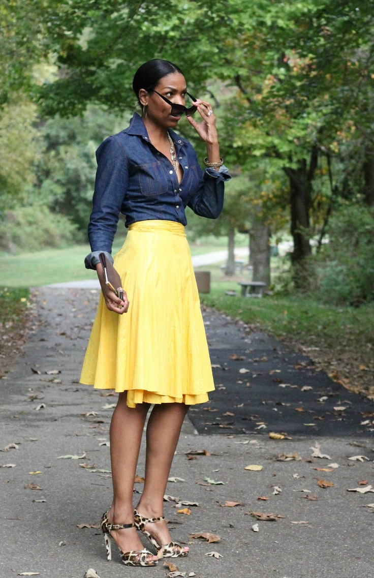17 Best ideas about Yellow Skirt Outfits on Pinterest | Mustard skirt Yellow pencil skirt ...